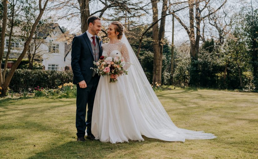 LOVE in an English Country Garden for Katie and Jamie's intimate wedding